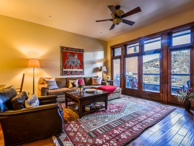 Photo for Luxury Downtown Condo | River & Mtn Views | Steps to Everything! | Private Balcony