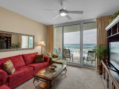 Photo for 0207 - 2B/2 Bath With Bonus Room. Master Bedroom & Living Room Face the Gulf!
