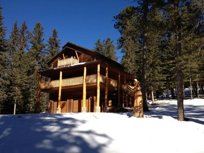 Photo for Eagle's Lair - Newly Remodeled Log Home In Private Location With Satellite TV