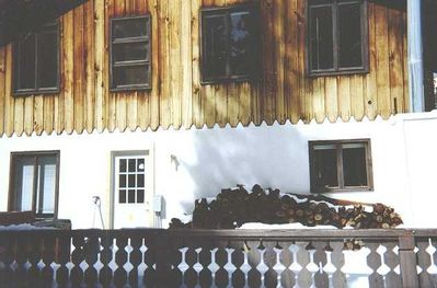 Squaw Valley House -- Fire wood in the Winter