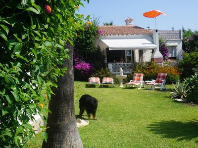 Photo for Andalusian 4 beds holiday house 400 meters from the beach, large garden