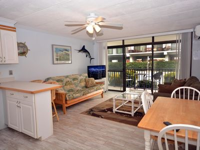 Photo for Stylish, lowkey 1 bedroom condo with WiFi and coastal decor located downtown in a family-friendly neighborhood only a few streets from the boardwalk and a short stroll to the beach!