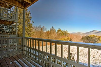 The condo offers beautiful views of Grandfather Mountain.