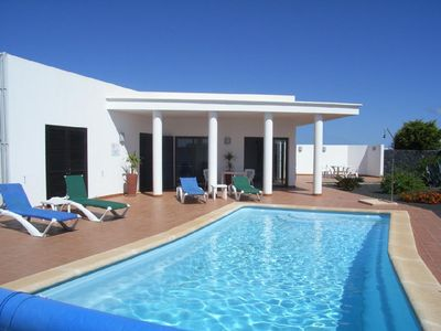 Photo for Detached Secluded Villa has Total Privacy Large Heated Pool and UK TV.