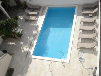 Photo for Luxurious sea view penthouse with sauna and hot tub, pool, top position