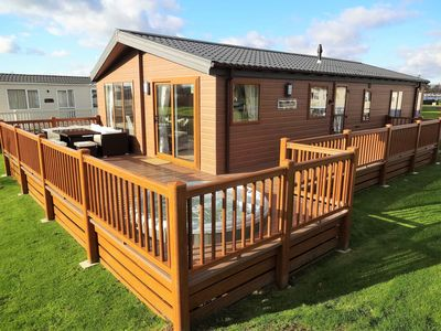 Photo for Executive Lodge with Hot Tub, 3 Bedrooms, 2 bathrooms at Tattershall Lakes