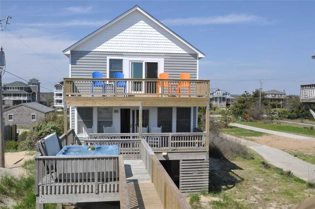 Crab Cottage Charming 4 Bedroom Oceanfront Pool And Hot Tub Nags Head Outer Banks North