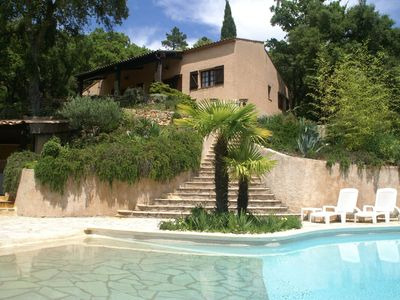 Photo for Villa on large grounds with private pool, tennis court and beautiful view.
