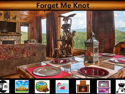 "Photo for ""Forget Me Knot"" - GREAT Mountain Views / WiFi / Arcade Game / Hot Tub / Jacuzzi Tub / Pool Access"
