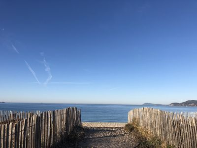 Photo for T2 modern cabin on the beach of La Londe (Var)