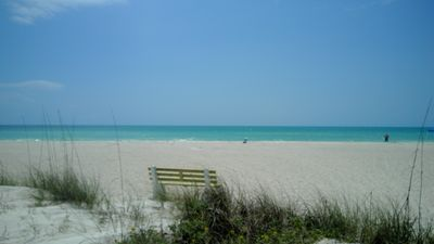 Photo for Gorgeous Recently Remodeled 2 Bedroom Condo Across Street From Beach