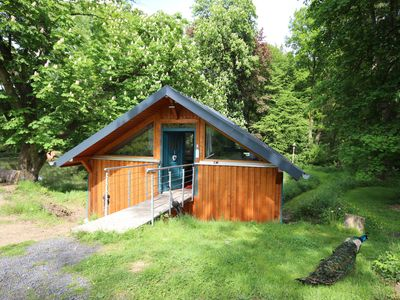 Photo for Pure nature - our boathouse on the pond - ideal for couples and young families