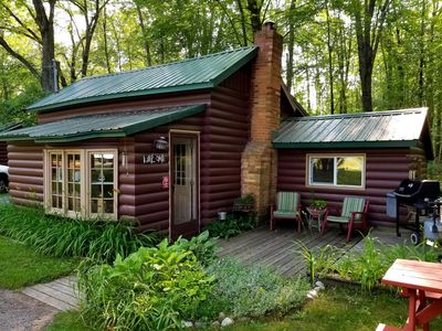 Photo for CABIN sleeps 7 Perfect location between Manistee & Ludington