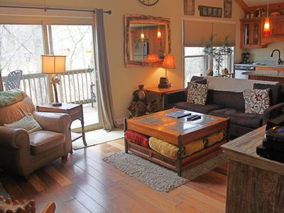Photo for Recently remodeled condo w/ slope views, gourmet kitchen & stone fireplace