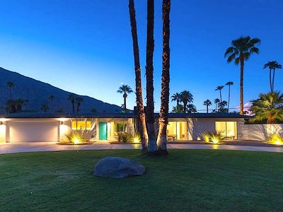 Photo for Bondhouse Mid-century minimalist pool/spa estate south of downtown Palm Springs.