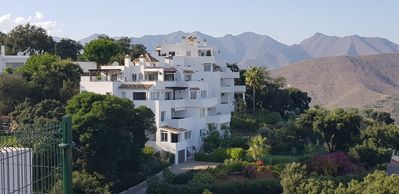 Photo for Amazing view over the sea and mountains in Elviria/Marbella,   WIFI