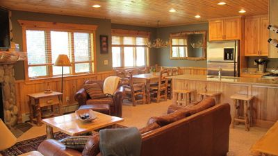 Photo for Log Cabin Luxury! Walk to Canyons Cabriolet. Quiet Complex with Hot Tubs.