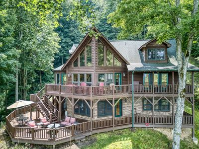 Photo for Cascading Falls in Gated Smoky Mountainn Retreat Community