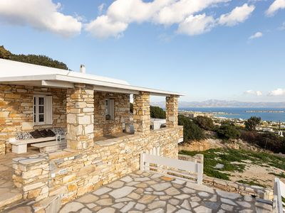 Photo for Superb Historic Cycladean Villa with view in Drios Paros