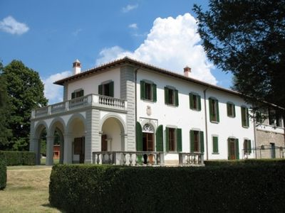 Photo for vacation holiday large villa rental, italy, near florence, tuscany, countryside, pool, view, wi-fi internet, short term