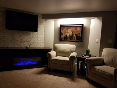 warming and calming fire place