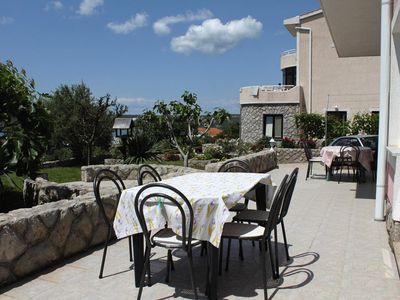 Photo for Two bedroom apartment with terrace and sea view Punat (Krk)