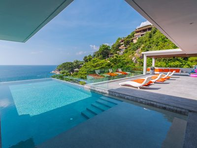 Photo for Beach front: 6 bedrooms luxury villa at kamala