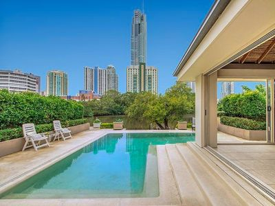Photo for Paradise Island Retreat - private, waterfront house. Stroll to Surfers Paradise!