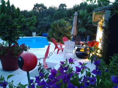 Photo for LUXURY WOOD VILLA LIGHT DESIGN BETWEEN SEA FOREST SWIMMING POOL 5km beach
