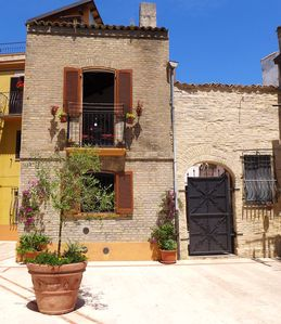 Photo for Medieval house located in the historical center but a short walk to the beach