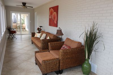 sunroom and outdoor patio