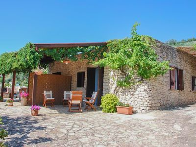 "Photo for Salento ""La Pajara del Sale"" Typical trullo surrounded by olive trees with sea view"