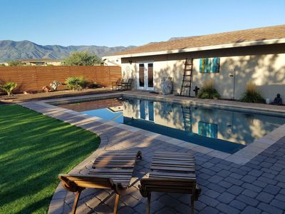 Paradise!  30' x 15' salt water swimming pool, fire pit right outside your door