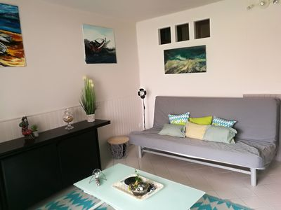 Photo for Furnished apartment 26m2 + terrace Close to the beach