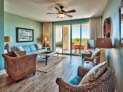 Photo for San Remo 103, Gulf Front,steps away from the pool/ beach, close to Gulf Place