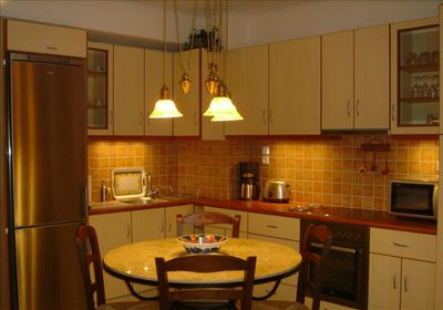 Dining in? Seats 4-6. Fully stocked with appliances, cookware, dishes and more!