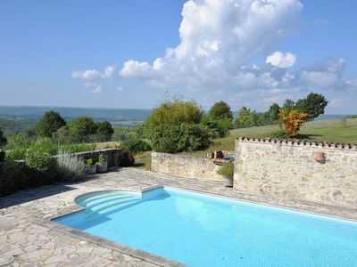 Photo for Authentic wine chateau with private swimming pool, unique view and total privacy
