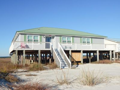 Beautiful Sound Front home on the west end of Dauphin Island.  Family Friendly!