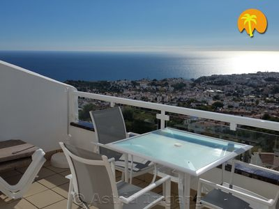 Photo for Stylish, spectacular sea views, south-facing, pool, air conditioning, 3TV, WiFi, media package