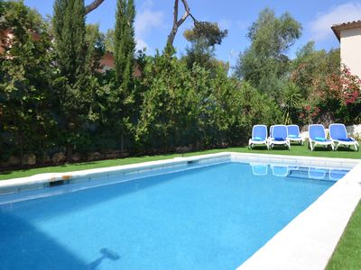 Photo for Air-Conditioned Holiday Home by the Sea with Pool, Terrace, Balcony & Wi-Fi; Parking Available