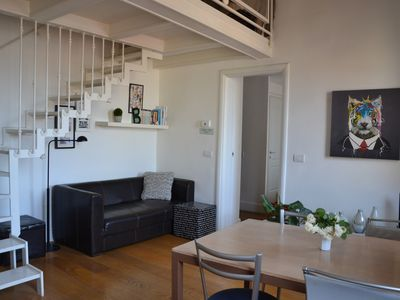 Photo for Bright apt. in San Frediano