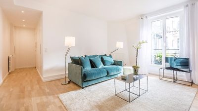 Photo for Bright & Tasteful 1-Bedroom Apartment Next to the Eiffel Tower