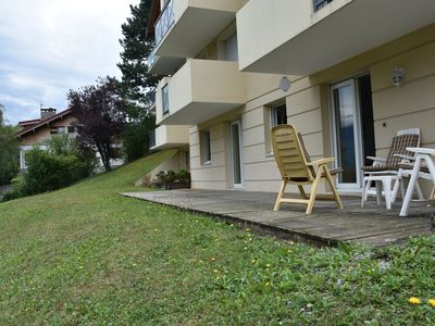 Photo for Modern apartment on the ground floor with spacious terrace and a view of the Mont Blanc
