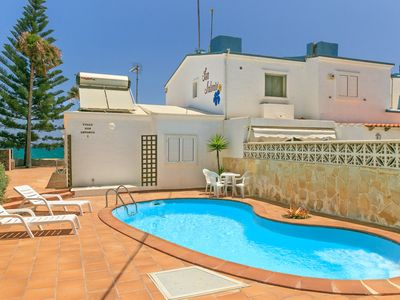 Photo for Villa San Antonio: Large Heated Private Pool, Walk to Beach, Sea Views, WiFi, Car Not Required, Eco-