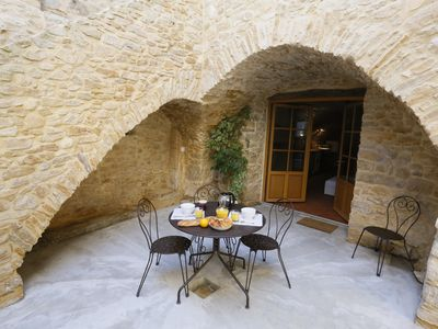 Photo for Atypical cottage and very comfortable in the heart of a hamlet gardois