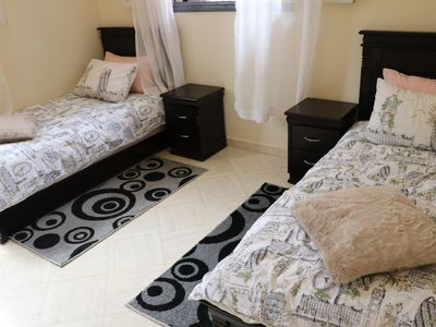 Photo for Beautiful luxury beds is 2 mins from play area and only 10 mins to the beach