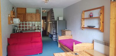 Photo for furnished studio at the foux d'allos