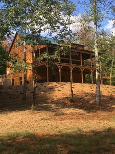 Photo for Private 7 Bedroom Retreat with Hot Tub, Playground, and Volleyball Court