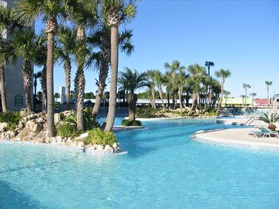 Gulf-front Lagoon Pool has Tropical Islands!  WOW!!