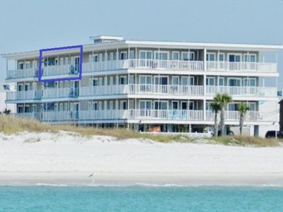 Photo for Top Floor Beachfront Condo with Pool, Elevator, WiFi, Steps to the beach